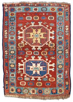 EAST ANATOLIAN YASTIK 91 x 66 cm (3ft. x 2ft. 2in.) Turkey, second half 19th century Condition: good, upper end incomplete, pile low in places Warp: wool, weft: wool, pile: wool