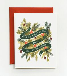 PERSONALIZED Winter Foliage Cards