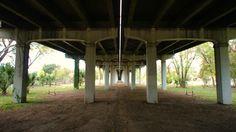 Anonymous swings affixed to an Tillery Street overpass in East Austin. Zilker Park, East Side, Swings, Anonymous, Gazebo, The Neighbourhood, Outdoor Structures, Street, City