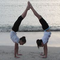 Sydney Urch and Tessa Basile c/o USA Gymnastics. Anyone dare to try this with a friend?