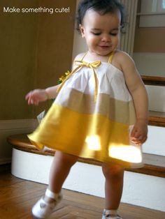 Elegance & Elephants: Natural Fabric Dyeing with Tumeric & Coffee Free Baby Patterns, Childrens Sewing Patterns, Clothing Patterns, Cute Girl Dresses, Little Girl Dresses, Baby Girl Fashion, Kids Fashion, Natural Dye Fabric, Natural Dyeing
