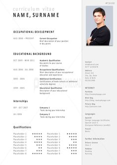 Simple illustrator resume template free download business job application powerpoint template for architecture yelopaper Images