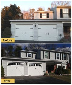 It's clear this homeowner wanted a carriage style garage door - so why go faux when you can have beauty and benefits of a Clopay Coachman Collection insulated door. It adds so much charm to this exterior. Model shown: Design 22 with Arch4 windows installed by Liberty Exteriors. www.clopay.com