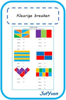 ©JufYvon: Kleurige breuken Fractions, Mathematics, Worksheets, Bar Chart, Teaching, Education, Bb, Europe, Math