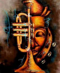 "by Stephanie Abena Kaashe ""Ancestor's Tone"". African American Artwork, American Artists, Vintage Photography, Art Photography, African Art Paintings, Haitian Art, Wine Art, Black Artists, Sculpture Art"