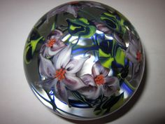 Glass Paperweights for Collectors | Large Richard Olma Glass Paperweight