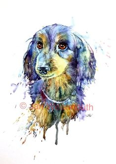 151 Best Dachshund Watercolor Art images | Dachshund ...