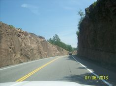 The Milford Bay Rock Cut on Muskoka Road 118 between Port Carling and Bracebridge Ontario, Country Roads, Earth, River, Rock, Places, Summer, Pictures, Photos