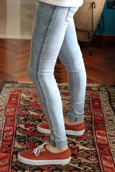 Superenge Jeans, Leather Jeans, Boys Jeans, Super Skinny Jeans, Skinny Pants, How To Look Skinnier, Cardigans For Women, How To Wear, Vans Shoes