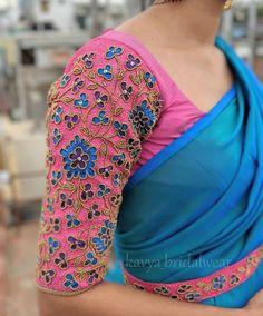 Pattu Saree Blouse Designs, Blouse Designs Silk, Designer Blouse Patterns, Bridal Blouse Designs, Kids Blouse Designs, Blouses, Sleeves, Dress, Needlepoint
