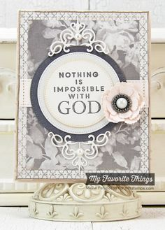 Words of Inspiration, Four Corners Die-namics, Layered Rose Die-namics, Pierced Circle STAX Die-namics - Mona Pendleton Verses For Cards, Scripture Cards, New Product, Product Launch, Lisa Johnson, Paper Crafts, Diy Crafts, Mft Stamps, Handmade Cards