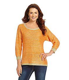 Reba Sequined Metallic Sweater #Dillards