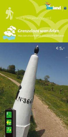 Wandelnetwerkkaart West Zeeuws Vlaanderen Grenzeloos wandelen op www.zeelandshop.com