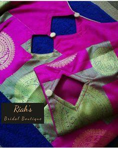 Cutwork Blouse Designs, Cotton Saree Blouse Designs, Patch Work Blouse Designs, Stylish Blouse Design, Blouse Back Neck Designs, Fancy Blouse Designs, Bridal Blouse Designs, Blouse Neck, Sleeves Designs For Dresses