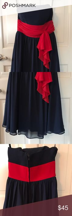 Alfred Angelo navy and red bridesmaid Clean, smoke free home, worn once for wedding, perfect condition. Alfred Angelo Dresses Wedding