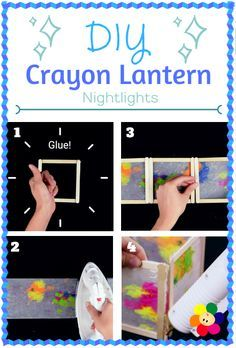 DIY Crayon Lantern Nightlights are fun and can be made with simple household… Projects For Kids, Diy For Kids, Craft Projects, Crafts For Kids, Craft Ideas, Vbs Crafts, Camping Crafts, Diy And Crafts, Diy Crayons