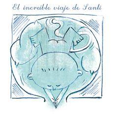 Ilustración para el cuento El increible viaje de Santi, de Alberto Haj-Saleh