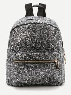 SheIn offers Sliver Front Zipper Glitter Backpack & more to fit your fashionable needs. Cute Mini Backpacks, Colorful Backpacks, Stylish Backpacks, Guess Backpack, Backpack Bags, Tote Bags Online, Backpack Online, My Bags, Purses And Bags
