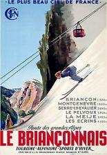 Affiche chemin de fer SNCF - Le Briançonnais