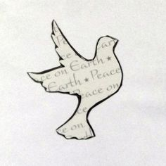 Peace on Earth Dove Magnet, Christmas Magnet, Christmas Decor, Refrigerator Magnet, Christmas Gifts, Stocking Stuffers, Christmas Decoration by YouniqueGiftShop on Etsy
