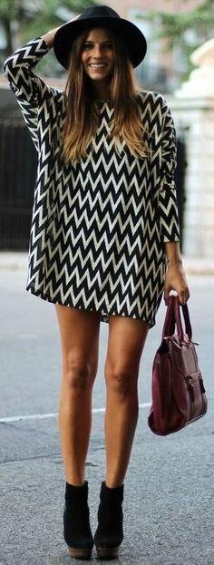 Awesome chevron dress.