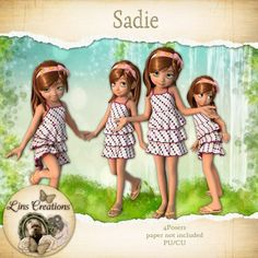 Berry Applicious Sadie [Lins Creations] - Sadie a sweet little girl to add to your kits or use in layouts CU/PU Maine, Php, Little Girls, Disney Characters, Fictional Characters, Card Making, Disney Princess, Toddler Girls, Baby Girls