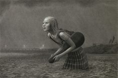 The Lesson, by Aron Weisenfeld / This drawing absolutely haunts me.