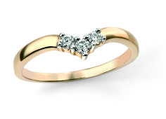 9ct Yellow Elements Gold and Diamond Wishbone Ring