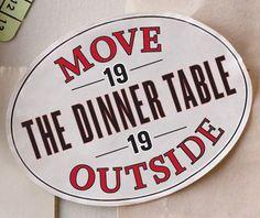 #19: Move the Dinner Table Outside #bucketlist