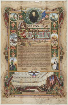 https://flic.kr/p/9Hk3fi | Illuminated Address presented to Charles Stewart Parnell from the Tenant Farmers of Ireland, 1880 | This illuminated address was presented to politician Charles Stewart Parnell by the leadership of the Land League to commemorate his speech to the United States' House of Representatives in February 1880.  Parnell toured the United States in 1879-80, building awareness of the Irish Land League and raising financial assistance for evicted tenant farmers back in…