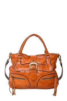 Carla Mancini Contrast Stitch Shoulder Bag by Boho Chic on @HauteLook