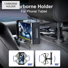 PRODUCT DETAILS COMPATIBILITY - Ideal for most cell phones and tablets with thin case. DEVICE PROTECTION - Soft and Anti-slip Silicone Pad equipped inside for preventing your precious electronic device from scratching, bumping or shaking. 360 DEGREE ROTATABLE - Rotatable and adjustable car tablet holder can be tilt for horizontal and vertical views. Provides you ultra comfortable hands-free viewing angle on back seat on the ride and in travel. Car Gadgets, Gadgets And Gizmos, Electronics Gadgets, Security Gadgets, Unique Gadgets, Drone Technology, Technology Gadgets, Tablet Holder, Phone Holder