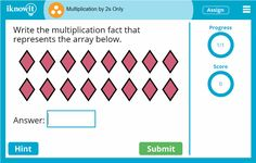 """Great new lessons are coming to http://iknowit.com  in 2017, such as this """"Multiplication by 2s"""" lesson! Try them out for free!"""