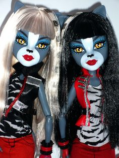 monster high purrsephone and meowlody dolls - Google Search