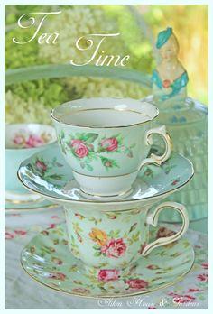 Aiken House & Gardens  Beautiful Aqua theme tea