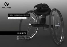 wheelchair ~ The simplicity and sleekness of design are very appealing in this wheelchair!