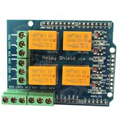 Relay Shield v2.0 5V 4-Channel Relay Module w/ Serial Bluetooth Interface for Arduino UNO / MEGA2560. Relay Shield is a small current signal control module, can achieve MCU to control large power device; It lead out the UART interface which can be connect with Serial Bluetooth module or Serial Wi-Fi module and D2 / D3 that can connect to infrared receiver module or 4-digit Display. So your phone can control the home appliances. Widely used in smart home project; Features: - Standard shield…