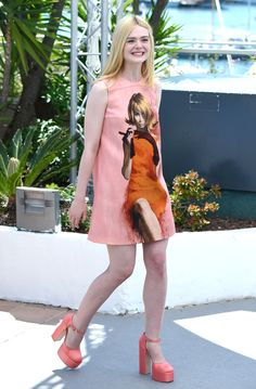 """Elle Fanning - """"How to Talk to Girls at Parties"""" Cannes Photocall - Prada"""