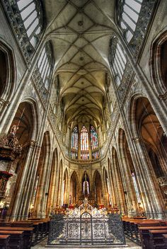 Saint Vitus's Cathedral - Prague, Czech Republic http://www.travelandtransitions.com/destinations/destination-advice/europe/
