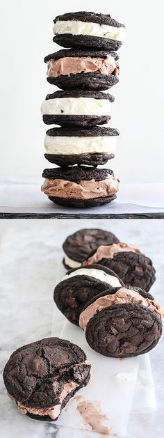 The double chocolate chip cookies are so good you almost don't need ice cream. Almost... | foodiecrush.com