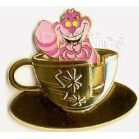 Pin 38481 DLR - Golden Vehicle Collection - Mad Tea Party (Cheshire Cat)