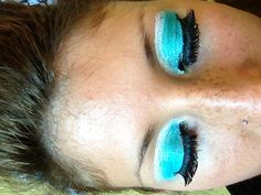 Aquamarine eyeshadow for cheerleading Cheerleading Makeup, Cheer Makeup, Cheer Extreme, Cheer Hair, Competition Time, Color Guard, Cosmetic Bag, Makeup Ideas, Eye Makeup