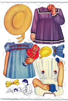 Here is the second Carolyn Lee set done by Queen Holden. I love the cute little doll with matching outfits. T...