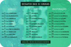 Enxergando Asas - Yasmin Prado: Desafio das 31 unhas