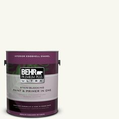 BEHR Premium Plus Ultra 1-gal. #YL-W10 Night Blooming Jasmine Eggshell Enamel Interior Paint