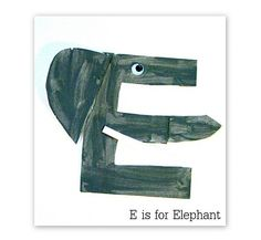 E is for elephant ... ABC crafts