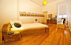 De eleganta rummen på Lisbon Calling Hostel.