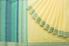 Handwoven Organic Cotton Saree from Ethicus