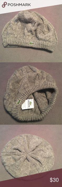 Lacoste women's winter hat! Worn only twice! Lacoste winter hat! Worn only twice. It's lovely but I rarely wear hats. Lacoste Accessories Hats