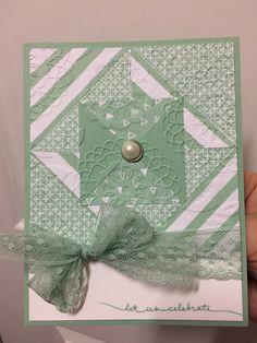 Stampin up Occasions 2016. Balloon celebration. Quilting technique. It's my party DSP.